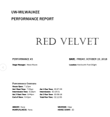 RV Performance Report Snap